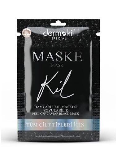 Dermokil Dermokil Havyarlı Siyah Kil Maskesi - Soyulabilir Renksiz